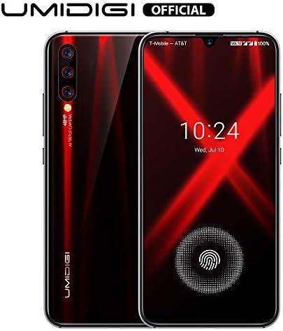 "Unlocked Smartphones 2019, UMIDIGI X in-Screen Fingerprint Dual SIM 4G Budget Phone, 48MP Triple Camera 6.35"" AMOLED Full Screen 4150mAh NFC RAM 4G ROM 128GB Fast Charging"