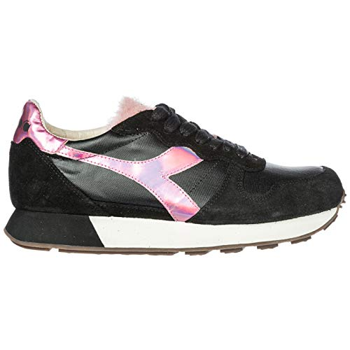 DIADORA Shoes Trainers Camaro HERITAGE h Women's Suede Black Sneakers fqxUBfg