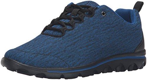 (Propet Women's TravelActiv Sneaker, Black/Navy Heather, 6.5 Wide)