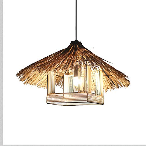 (TZZ Creative Chandeliers Rattan Square Ball Bird nest, Hats Contemporary Pendant Light Shade Dinning Ceiling Fixture Restaurant Loft Lamp Shade Kitchen)