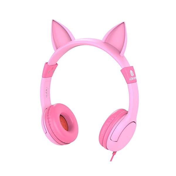 dc11a40044c [2019 Upgrade]iClever Boostcare Kids Headphones Girls – Cat Ear Hello Kitty  Wired Headphones for Kids on Ear, Adjustable 85/94dB Volume Control –  Toddler ...