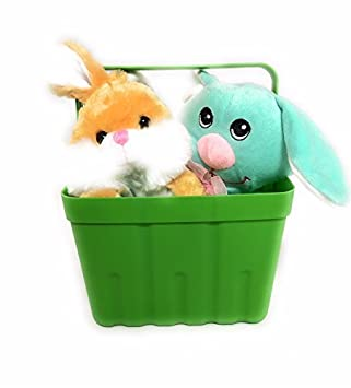 Amazon easter gift basket with two assorted stuffed plush easter gift basket with two assorted stuffed plush animals bundle negle Image collections