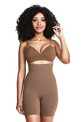 Shorts Modelador Abdominal Skin, Plié, Feminino, Cacau, P
