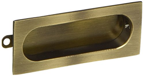 (Deltana FP222U5 Rectangle 31/8-Inch x 15/16-Inch Solid Brass Flush Pull)