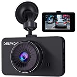 DESPKON Dash Cam 3.0 Screen Full HD 1296P 170° Wide Angle Dash Camera, Car Camera with G-Sensor Parking Monitor WDR Loop Recording Motion Detection and Night Vision
