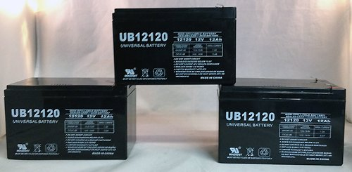 - Universal Power Group 12V 12Ah X-treme X-360, X360 Scooter Battery - 3 Pack