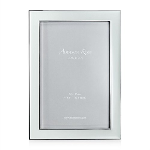 Addison Ross Enamel Frame, Mint, 4-Inch-By-6-Inch - Silverplate Mint