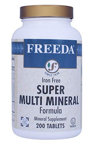 Freeda Magnesium Kosher - Freeda Kosher Natural Super Multi Minerals with Iron - 200 Tablets