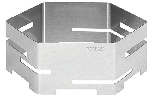 Rosseto SM116 14-Inch Brushed Stainless Steel Hexagon Buffet Riser, Small by Rosseto