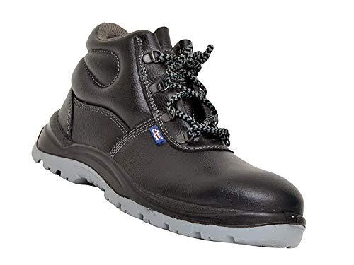 Allen Cooper 1008 Hi-Ankle Safety Shoe, Size-6 UK, Black-Grey (Free Socks) Price & Reviews