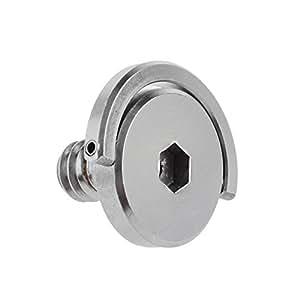 Neewer 0,64 cm de acero inoxidable en D anillo de montaje del eje cabeza hexagonal Tornillo de fijación para trípode de cámara monopié/de liberación rápida