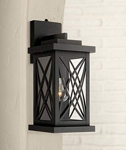 Woodland Park Outdoor Wall Light Fixture Black 15