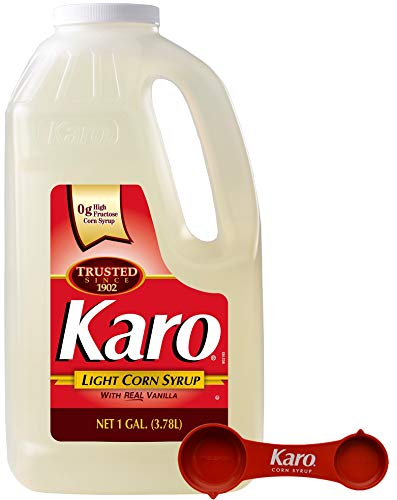 - Karo - Light Corn Syrup with Real Vanilla, 1 Gallon Bottle - Includes Karo Measuring Spoon