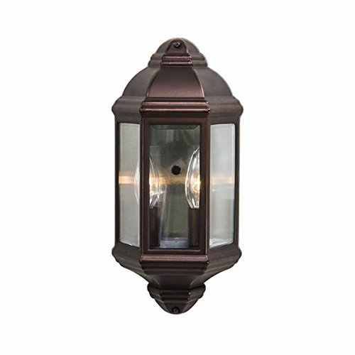Acclaim 6002ABZ Pocket Lantern Collection 2-Light Wall Mount Outdoor Light Fixture, Architectural Bronze