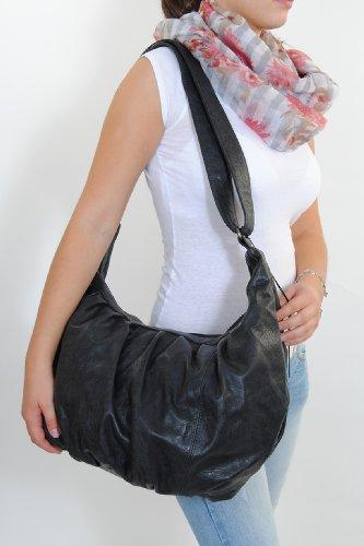 Fritzi aus Preußen Damen Handtasche Shopping Bag MAREIKE Anthrazit Wien