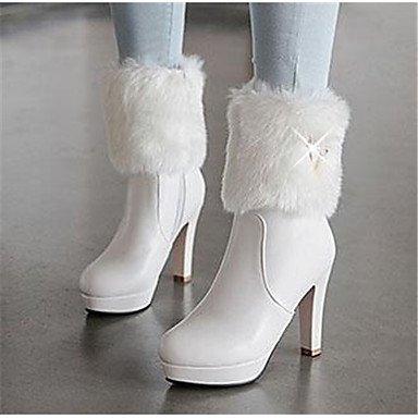 GLL&xuezi Damen Stiefel Komfort Nubukleder Herbst PU Frühling Herbst Nubukleder Normal Weiß Rosa 10 - 12 cm blushing pink b749f0