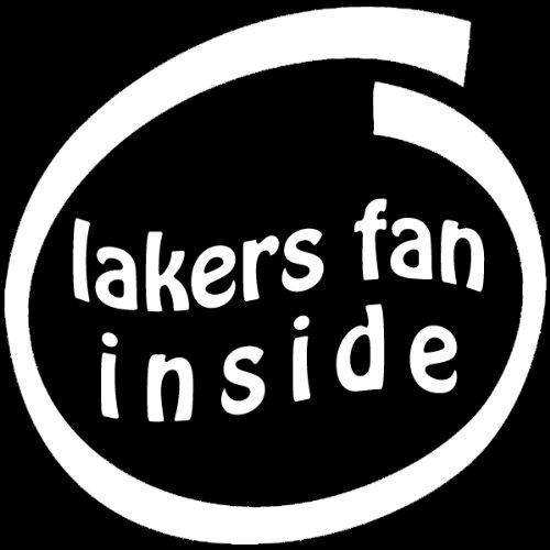 Fan Inside Vinyl (Lakers Fan Inside , Vinyl Car Decal, 'Multiple Colors', '10-by-10 inches')