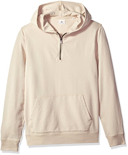 Buy now AG Adriano Goldschmied Men's Lyle Quarter Zip Pullover Hoodie, Sunbaked Mineral Veil,