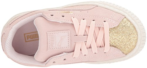 Pictures of PUMA Kids' Suede Platform Glam Sneaker Pink 36492207 2