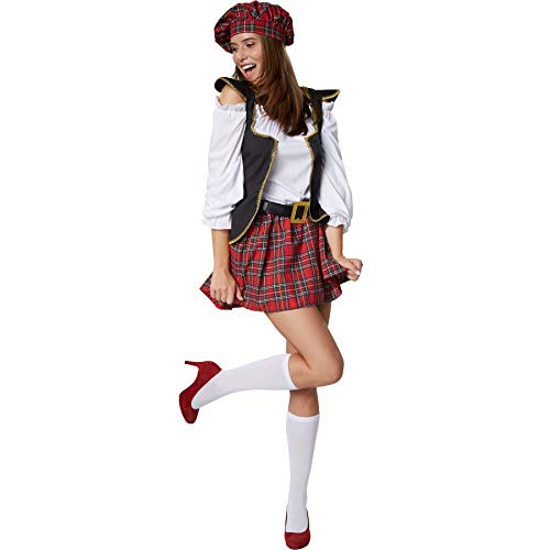 dressforfun 900421 - Disfraz de Mujer Chica Escocesa, Disfraz ...