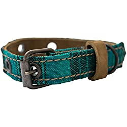 Mayan Pet Collar For Cats & Small Dogs (8.25 - 12.25 Inches) Handmade by Hide & Drink :: Tropical Lime