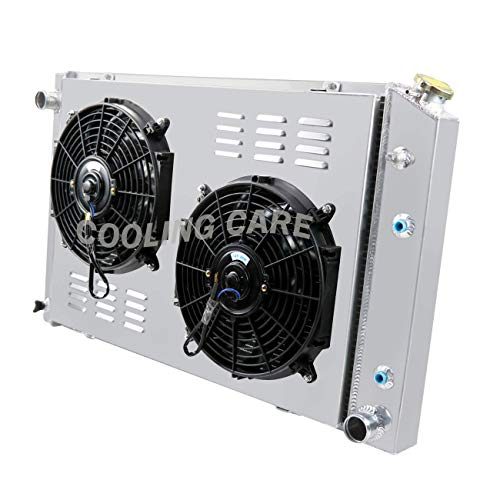 "CoolingCare 3 Row Aluminum Radiator+ Shroud+ 2 X 12""Fan for 1973-93 Chevy C/K Series 10 20 30 Pickup Truck"