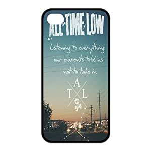 iPhone 4/4S Case, All Time Low Hard TPU Rubber Snap-on Case for iPhone 4 / 4S