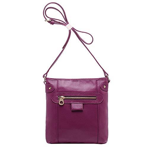 Designer Main à Bag Bandoulière Moto Sacs Sacs Sac Vintage Fourre Main,Femmes Sac tout En Grand Loisirs Purple Body à Cross à Cuir Véritable P00IZqTU