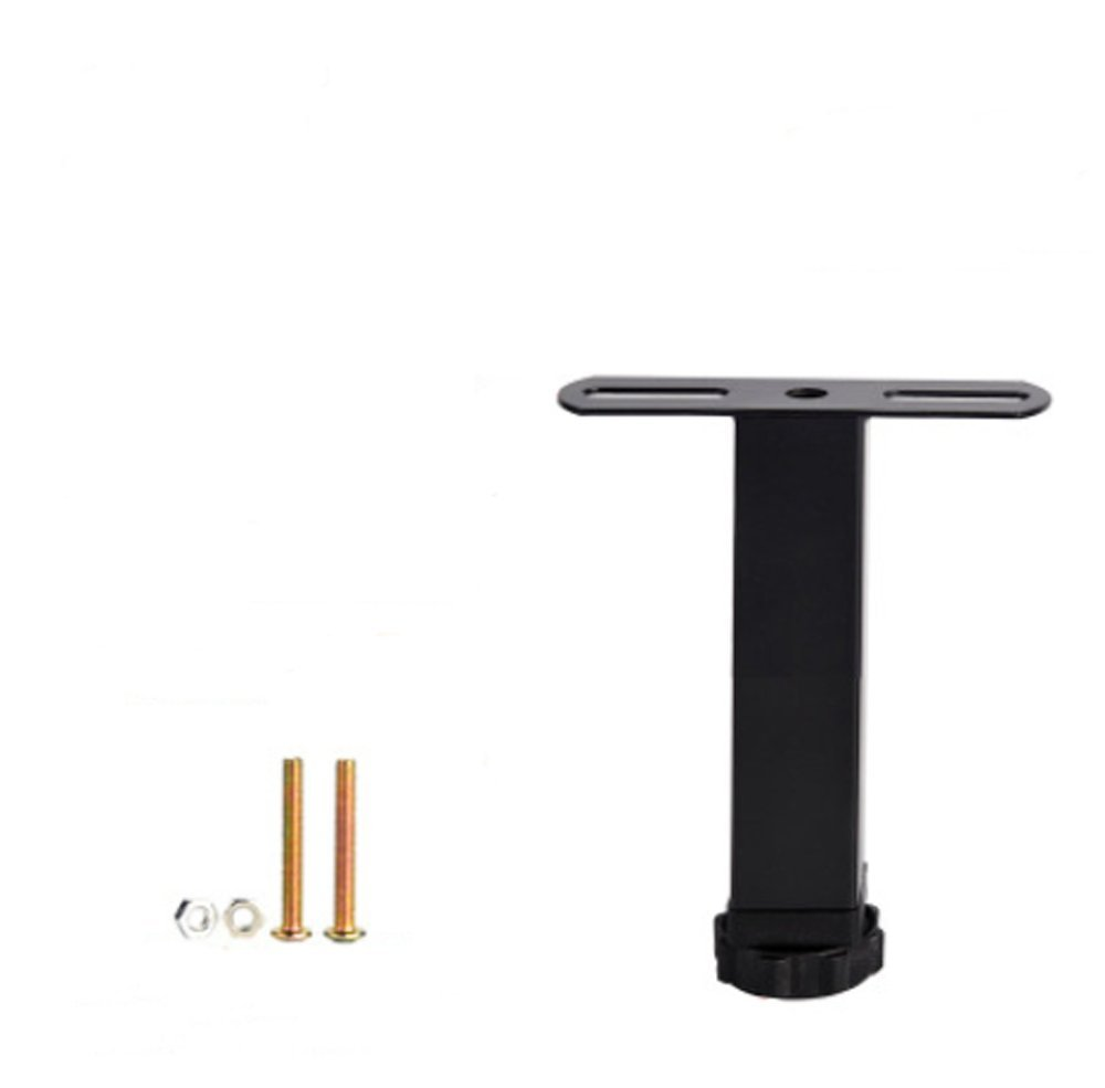 zoele Metal Adjustable Legs for Table/Bed and Sofa/Furniture Cabinet Foot Legs feet Support/Heavy Duty Easy Install Bed Center Frame Slat Support Leg(1pcs) (A)