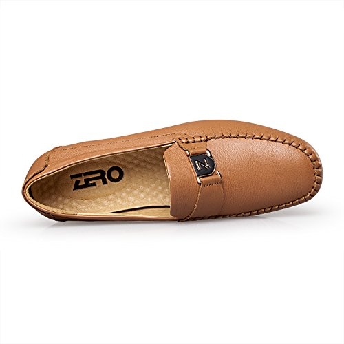 Light ZRO Loafer Driving on Brown Leather Mens Fashion Casual Slip S7nprPq78w