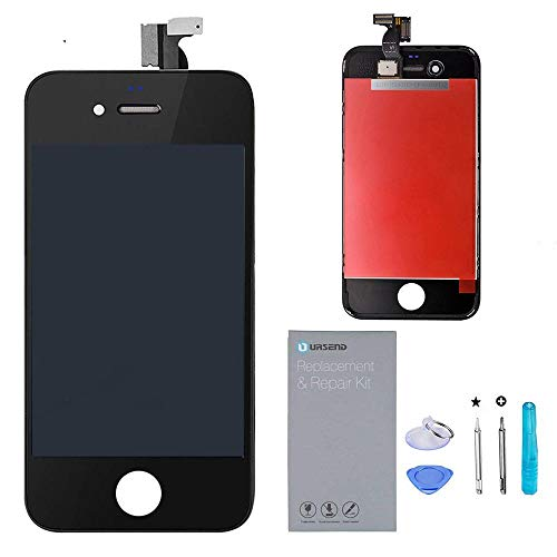 (URSEND for iPhone 4 GSM LCD Touch Screen Display Digitizer Screen Replacement Assembly with Repair Tool (black))