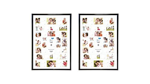 Mainstays 27x40 41-Opening Black Trendsetter Collage Poster & Picture Frame,2-Pieces
