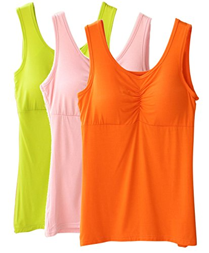 Vogue of Eden - Camiseta sin mangas - para mujer Orange-Pink-Light Green