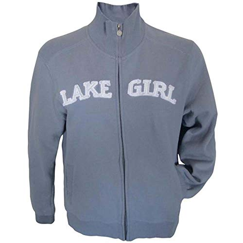 LAKEGIRL Full Zip Track Jacket Full Collar Sweatshirt (2XL, Sky)