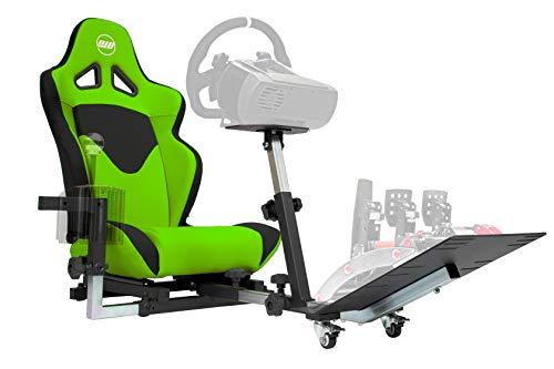 Openwheeler GEN2 Racing Wheel Stand Cockpit Green on Black   Fits All Logitech G29   G920   All...