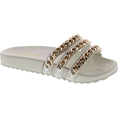 Amazon.com | Liliana Nomi-2 Women Flip Flop Gold Chain