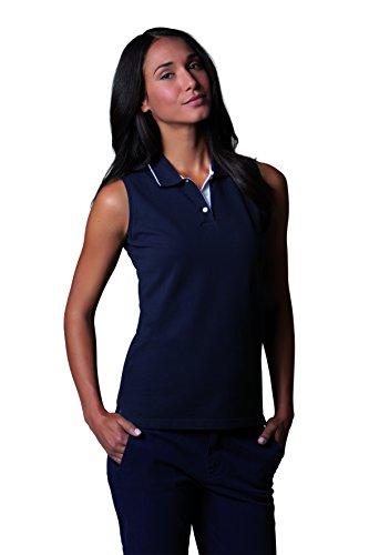 Gamegear - Polo - Sans manche - Femme Bleu Bleu marine/blanc 42