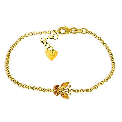 Galaxy Gold 0.6 Carat 14K Solid Gold Butterfly Bracelet Citrine