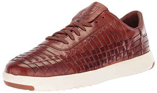 Cole Haan Men's Grandpro Tennis Huarache Sneaker Woodbury Woven Burnish 8.5 Medium US