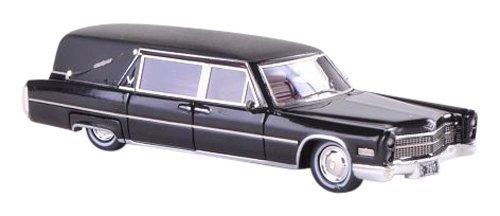1/87 キャデラック S&S Landau Hearse 霊柩車 1966(ブラック/マットブラック) NEO87611