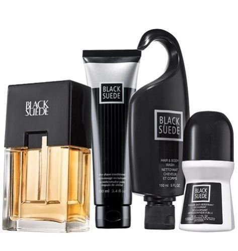 (Avon Black Suede 4-Piece Men's Cologne Gift)