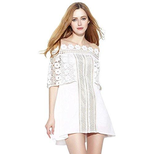 Dezzal Womens Shoulder Hollow Dress product image