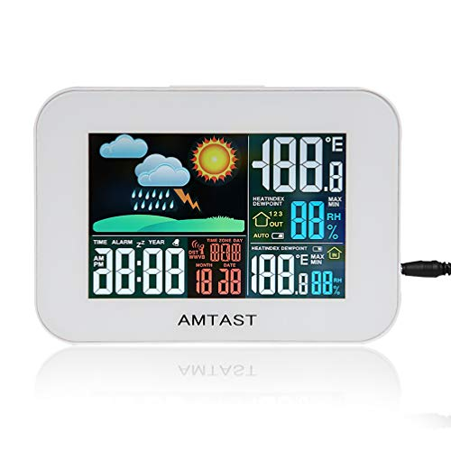 (AMTAST Wireless Weather Forecast Station Temperature Humidity Meter with Colorful LCD Display)