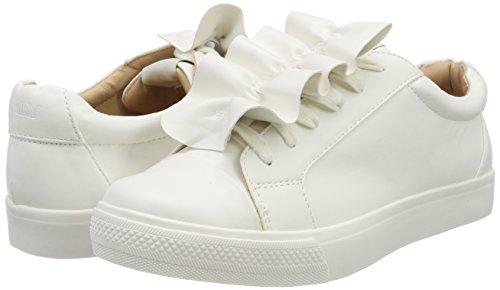 Sneaker White Only Frill Mujer Blanco white Onlskye Zapatillas Para ZyEHxwpqEU