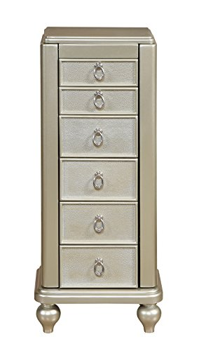 Treasure Trove Jewelry Armoire Seven Drawer Chest, Silver (Chest Drawer Seven)