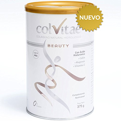 COLVITAE BEAUTY - SABOR PIÑA - Colágeno Hidrolizado Natural + Calcio + Ácido Hialurónico + Vitamina C - Envase para un mes (375 gramos): Amazon.es: Salud y ...