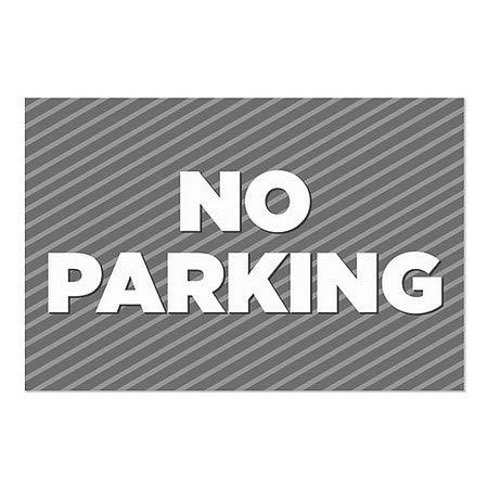 Public Parking 30x20 Nostalgia Stripes Window Cling CGSignLab 5-Pack