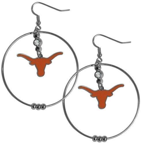 (NCAA Texas Longhorns Hoop Earrings, 2-Inch)