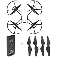 For DJI Tello Drone, Battery+Propellers,Mintu Intelligent Flight Battery 1100 mAh 3.8V + 4PC Propellers (Black)