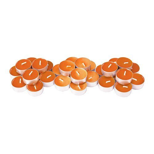 Ikea's Sinnlig Scented Tealight Candle, Tangerine Sunshine, Orange- (30 Pack) (Candles Colored Tealight)
